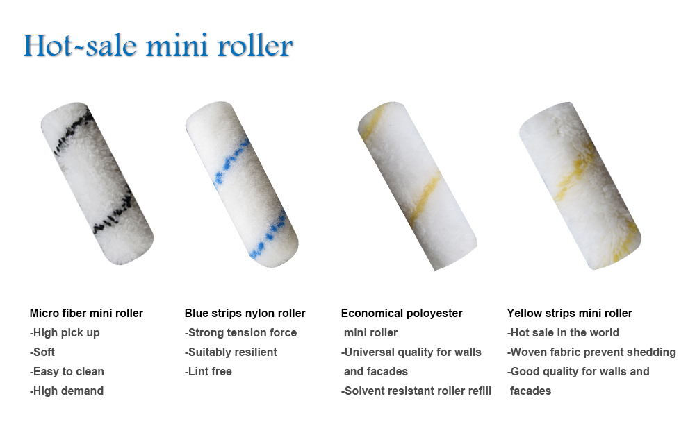 LARY R008055 High Quality high density foam paint roller mini foam roller