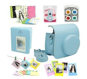 Fujifilm Instax Mini 9 Camera Case with Shoulder Strap Blue FujiFilm Bag Accessories Bundle