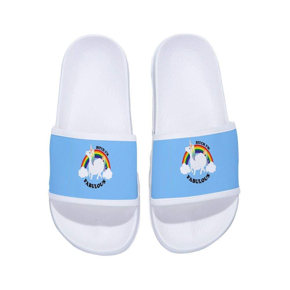 MingDe Sports Sandals for Boys Girls Unicorn Anti-Slip Bath Slippers Shower Shoes Indoor Floor Slipper(Little Kid/Big Kid)