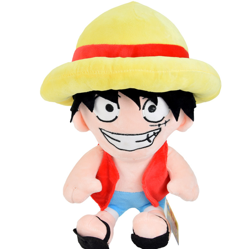 15 Inch Soft Stuffed Cartoon Kids Toys Japan Anime Cute One Piece Monkey D Luffy Plush Toy For Children Birthday Gift Dc041