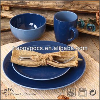blue stoneware dinnerware sets two tone ceramic & Blue Stoneware Dinnerware Sets Two Tone Ceramic - Buy Blue Stoneware ...