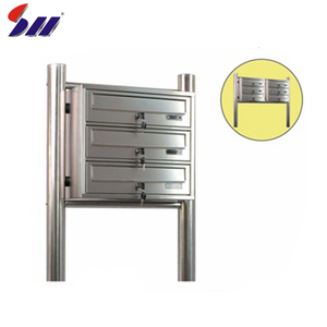 H360XW400*D270mm Cheap price wholesale office building stainless steel metal mailbox for letters