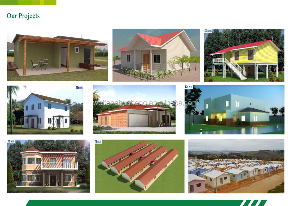New design cheap tiny ready made 50m2 2 bedroom bungalow for Premade floor plans