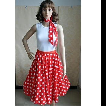 b9177a637198 Polka dot haterneck dancing skirt swing dance vintage rockabilly dress for  women instlyles outfit