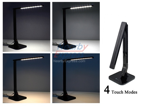 TaoTronics Elune TT-DL01 Dimmable LED Desk Lamp (14W, Piano Black, 4 - TaoTronics Elune TT-DL01 Dimmable LED Desk Lamp (14W, Piano Black