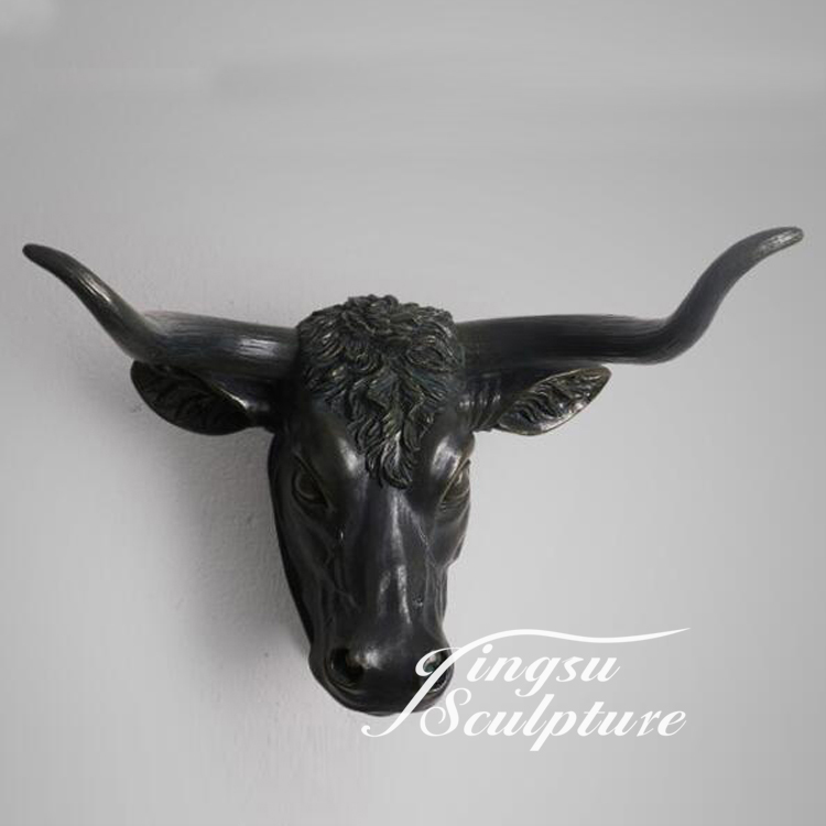 Cheap Price Indoor Decoration Cow Head Sculpture