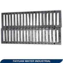 Cast iron surface water trench drain grate