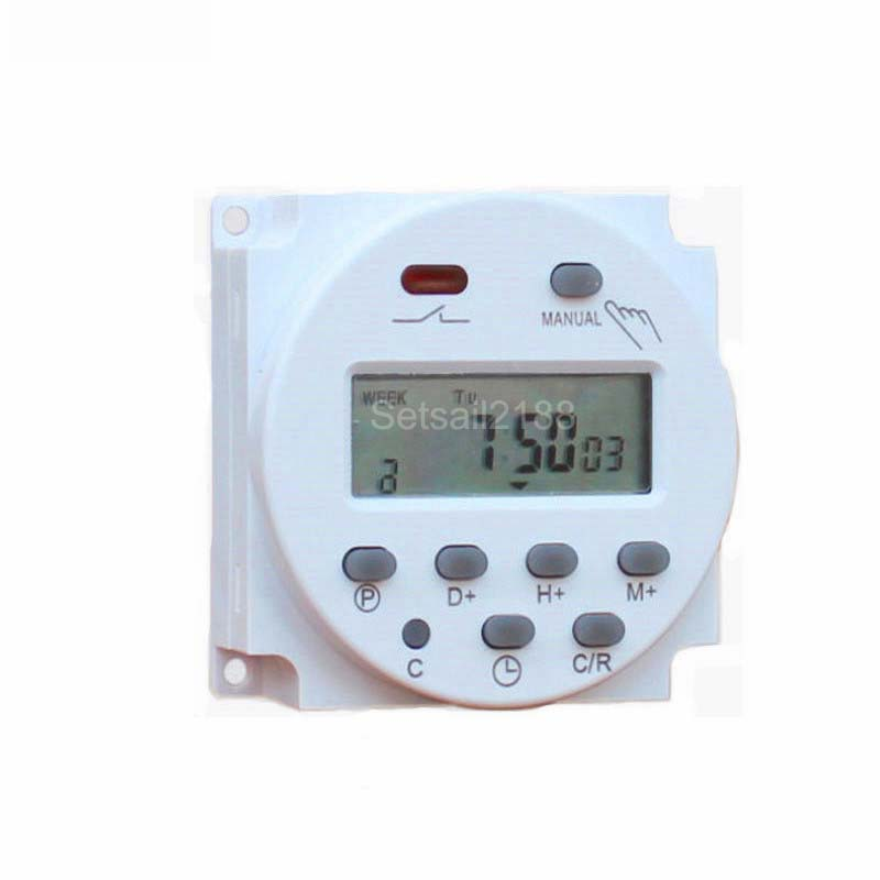 CN101A DC 12V 24V AC 220V 16A 24 hour digital Time delay relay Switch LCD Digital Power Programmable Timer