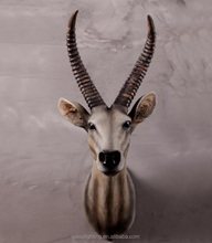New product wholesale natural design resin animal goat head shape wall hanging animal decoration