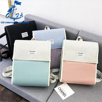 2018 Fashion Backpack women Korean Harajuku style backpack simple square  Japanese junior high school bag 3919fa105f
