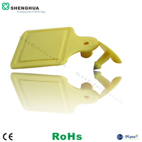 RFID Animal Cattle Ear Tag With Alien H3 Chip For GPS System