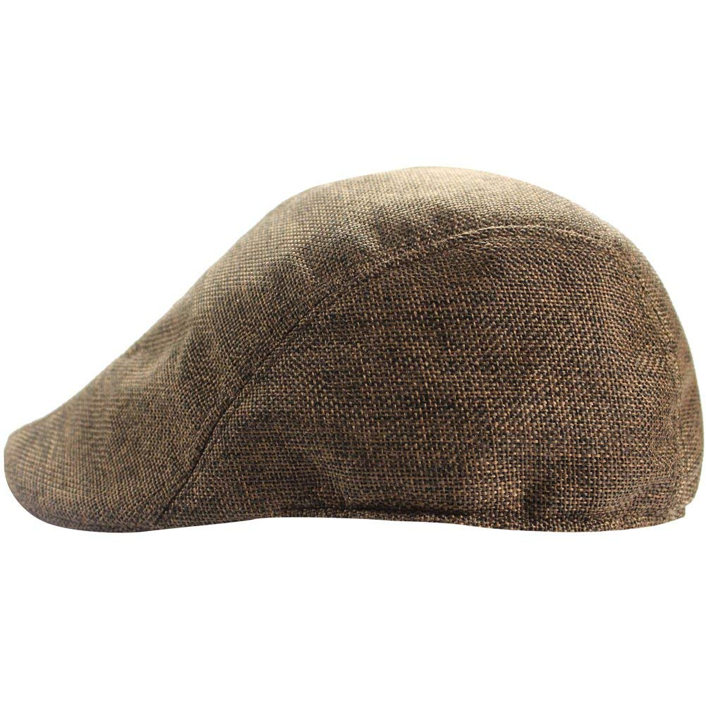 Get Quotations · Men Cotton Sun Flat Snap Ivy Gatsby Newsboy Hunting Cabbie  Driving Beret Hat Cap e292477114aa