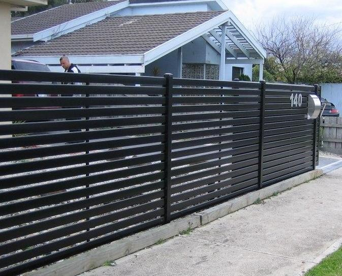 Used aluminum horizontal slat fence buy