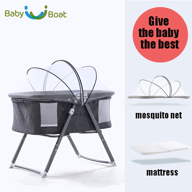Baby Bed CE Approved Modern Style Canopy With Mosquito Net Baby Crib