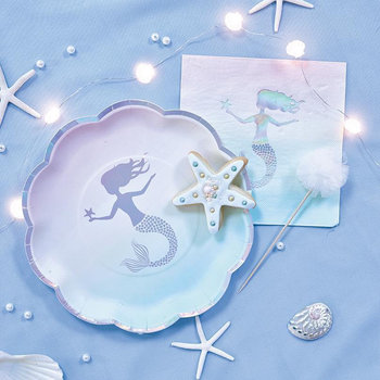 mermaid theme plates napkins for girls birthday bridal shower party party decorations under the sea ocean