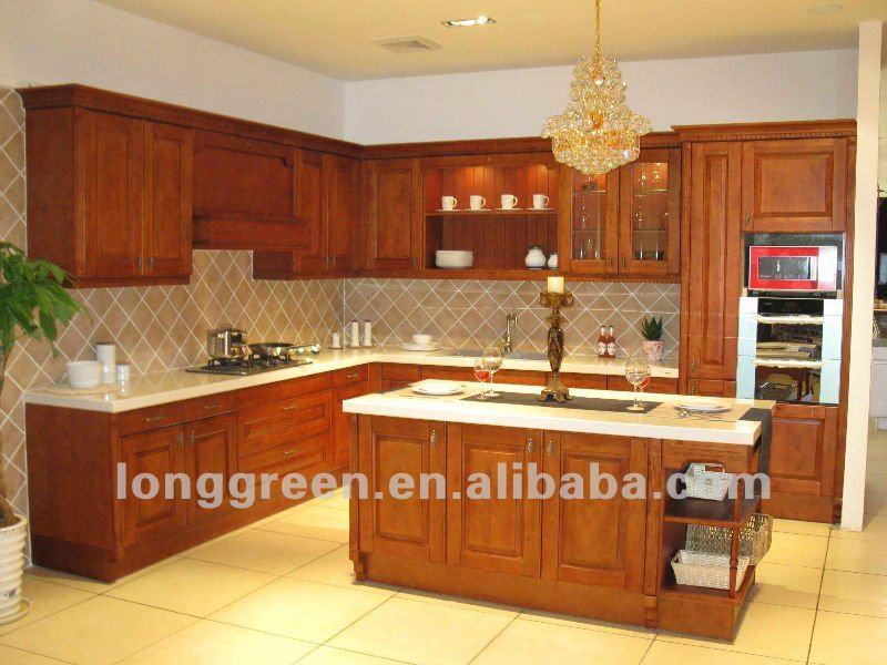 Arce Rojo Esmaltado Gabinetes De Cocina De Madera - Buy Product on ...