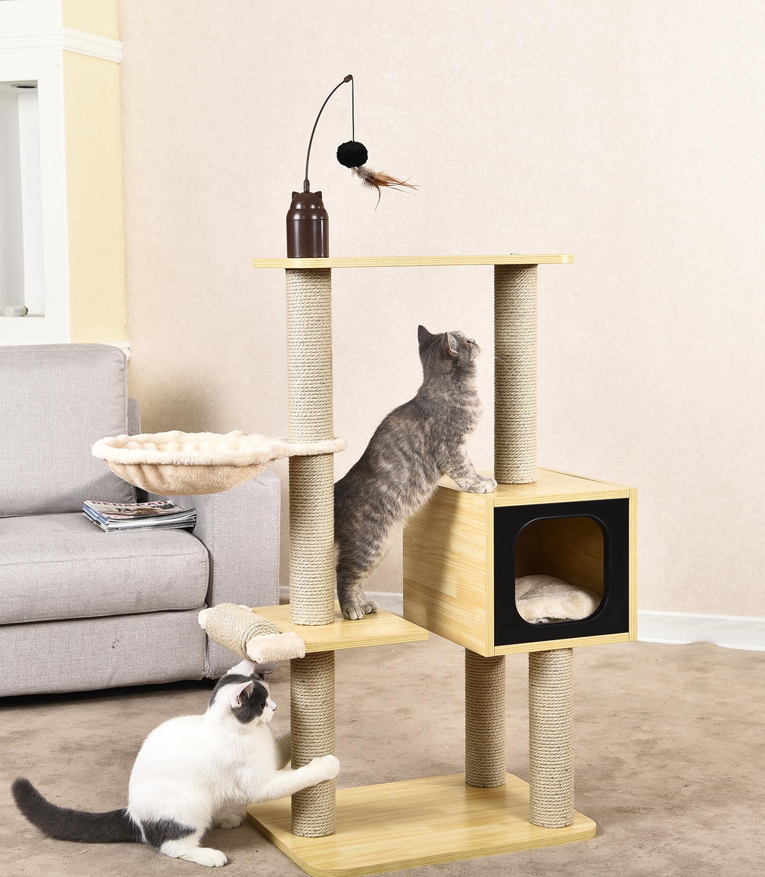 Furniture House Wood Pet Cat Tree