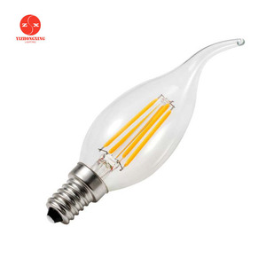Led Candle Filament Lamp E12 E17 E14 2W 4W 6W Dimmable C35 Led Light Bulb 2700K