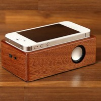 New wireless music mini smart box wooden Induction Speaker for party