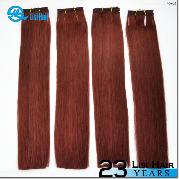 YBY 100% Remy Double Drawn High Quality Beauty remy hair weaving 99j