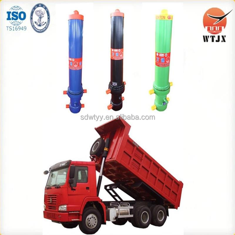 front mount single-acting telescoping hydro cylinders for dump truck
