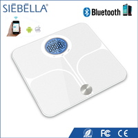 Highest Level round LCD ITO glass bluetooth body fat analysis scale
