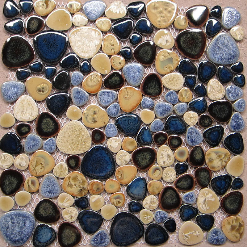 Pebble Tile Kitchen Floor