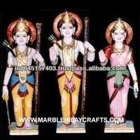 A Beautiful Family of Lord Rama from White Marble