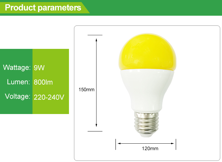 E27 LED bulb 9W anti mosquito lamp