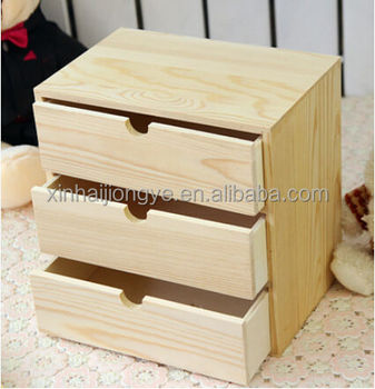 Custom Made 3 Layer Small Wooden Storage Cabinet With