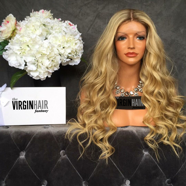 Most popular ombre full lace wig 180 density 26 inch factory price
