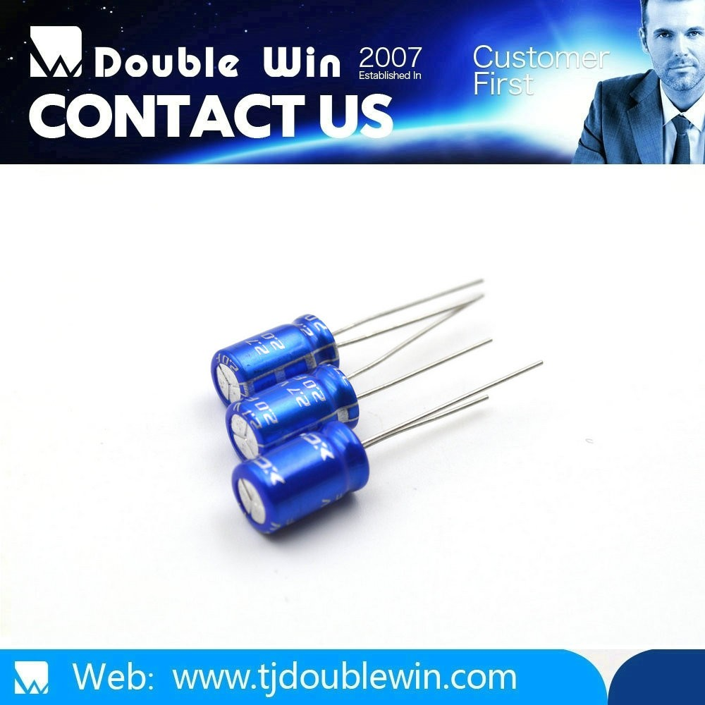 Super long life low voltage high ripple current low impedance 20f 3v electrolytic capacitor for led