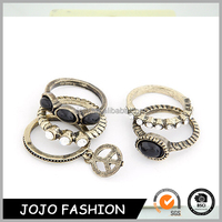 Beautiful new product ladies finger gold ring design puzzle finger ring