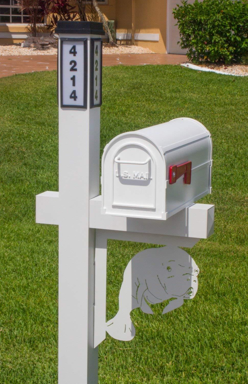 BrightLight Custom Aluminum Manatee Mailbox Bracket