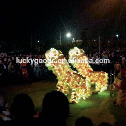 wholesale battery control LED red lion dancing costume