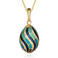 Jesus cross inlay crystal egg pendant, faberge jewelry pendant