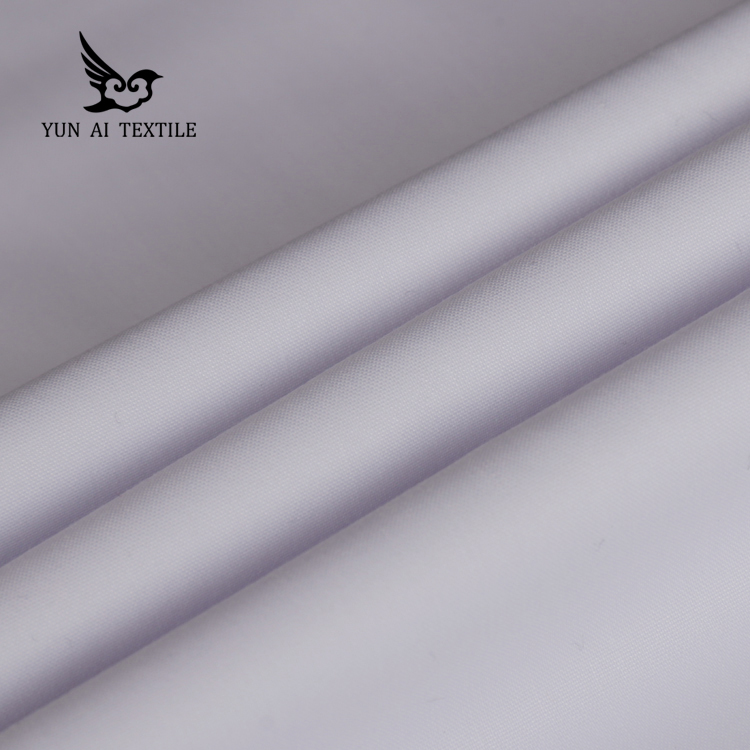 high quality soft handfeeling 100% spun polyester dyeing shirt fabric