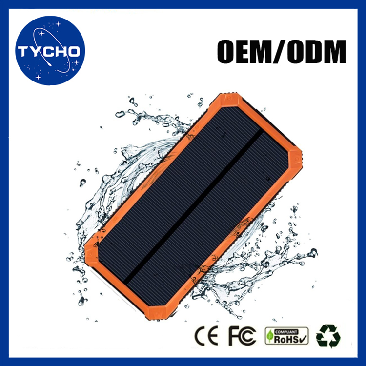 Fast Charging LED Solar Power Bank 20000mAh Multi-function Solar Power Built In Torch Portable Power Bank For Laptop Mobile