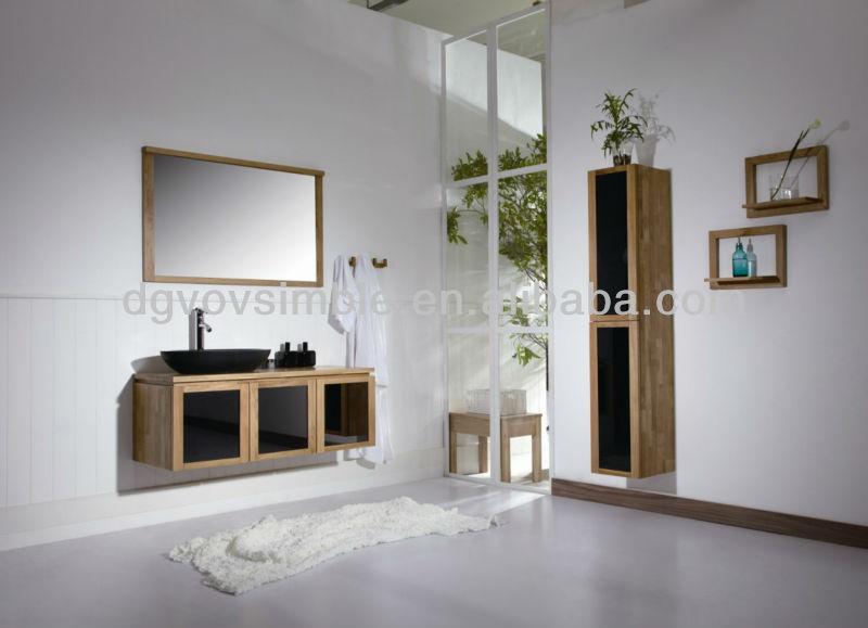 De gama alta de madera maciza muebles de cuarto de ba o - Muebles cuartos de bano ...