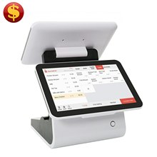 Hot selling touch screen pos systemlow noise systemwater spill proof system with software