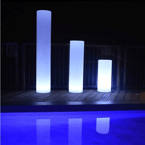Automatic Color Changing Led Pillar Light Wedding Round Column
