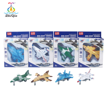 1:180 scale pull back metal aircraft model for children