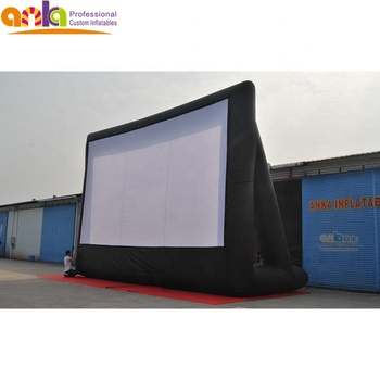 Commercial cinema inflatable air movie, projector screens for outdoor event