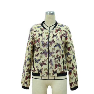 Cool Hot Selling Ladies BomberJacket For The Winter Factory Custom Women's Casual Embroidery Reversible Satin Jack