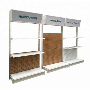customized design electric appliance display rack single sided supermarket rack