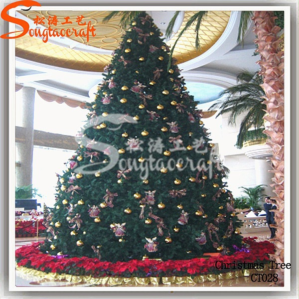 6meter Metal Frame Artificial Giant Christmas Tree Ornament  - Large Christmas Tree Stands For Sale