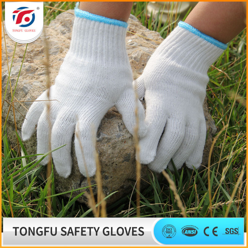 work safety construction white cotton working gardening glove