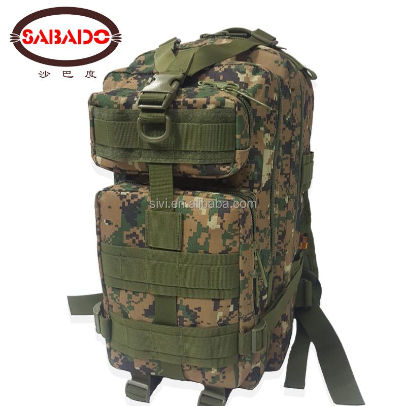 600D Ordu Molle Su Geçirmez Bug Out Çanta Küçük Sırt Çantası Askeri Kamuflaj 3 p sırt çantası Açık Küçük Taktik Saldırı Çantası