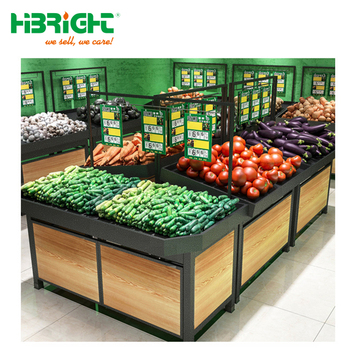 High quality supermarket fruit and vegetable shelf and rack
