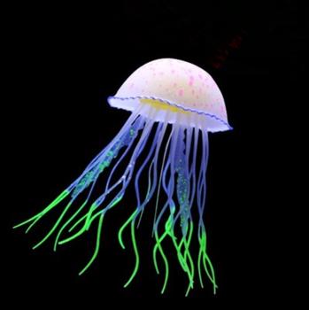 Fish Tank Fluorescence Decorations Box Fake Jellyfish Aquarium